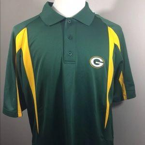 NFL Team Apparel Green Bay Packers Mens XL Polo e66fe1081
